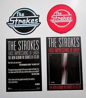 Strokes Patch and Sticker and Postcards Lot
