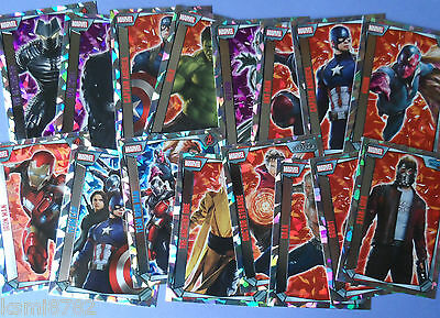 Topps Marvel Missions  Super Holo Foils 257-272 Single Cards