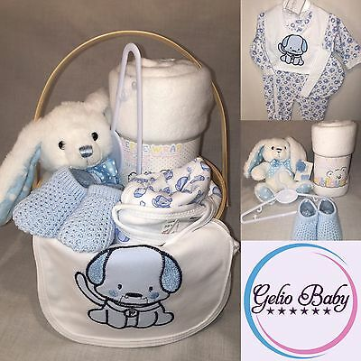Baby Boys 8 Piece / Gift Basket / Hamper / Gift Set / Newborn / Baby Shower