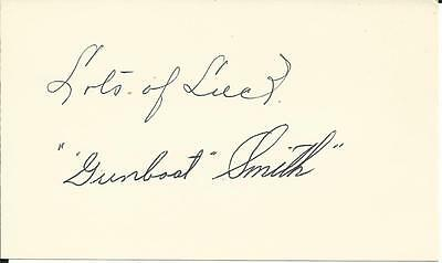 Autographed index card Gunboat Smith Legendary Heavyweight 1900s
