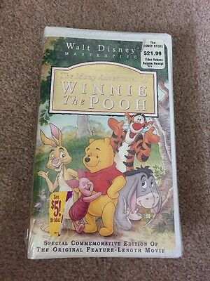 The Many Adventures of Winnie the Pooh Walt Disney VHS Video Tape New Sealed