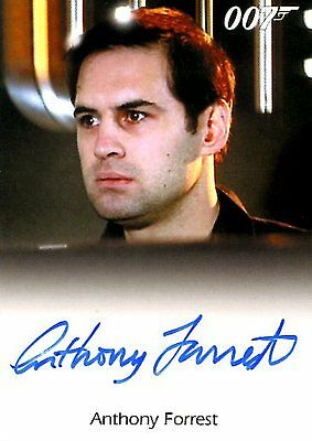 2017 James Bond Archives Final Ed FULL BLEED AUTOGRAPH card ANTHONY FORREST