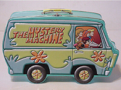 Hanna Barbera Scooby Doo The Mystery Machine Tin Metal Lunch Box Excellent