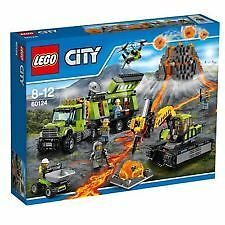 Lego City 'Volcano Exploration Base' #60124 Brand New In Sealed Box