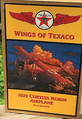 Texaco ERTL Series Banks 1929 Curtiss Robin Airplane Collector's Series No. 6