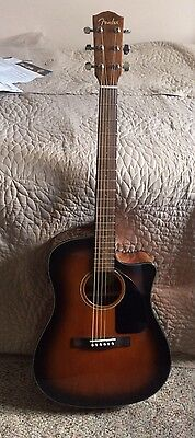 Fender CD-60CE Acoustic/Electric Guitar With Case Mint Condition