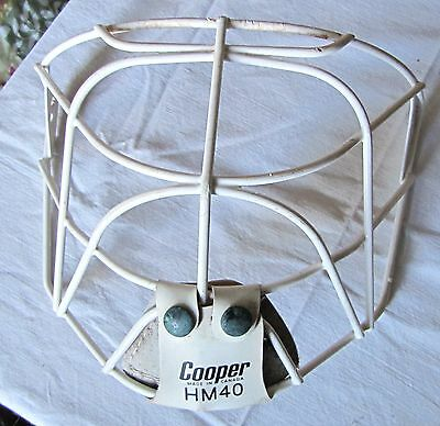 Vintage Hockey face mask cat eye Cooper HM40 senior