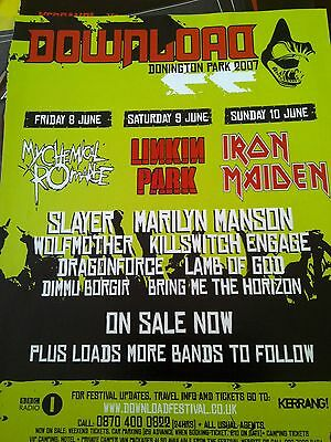 Download 2007 Iron Maiden Linkin Park My Chemical Romance 1 Page to Frame