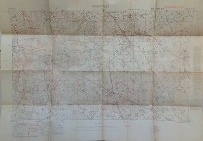 Flanders Battlefield. New WW1 trench map GHELUVELT Ypres Sanctuary Wood Polygon