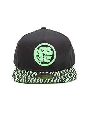 Official Marvel Comics: The Incredible Hulk Fist Icon Symbol Snapback Cap (New)