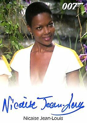 2017 James Bond Archives Final Ed FULL BLEED AUTOGRAPH card NICAISE JEAN-LOUIS