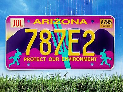 1995 Arizona Protect Our Environment Gecko License Plate Discontinued Type MINT