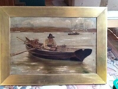 A Victorian oil on canvas of a fisherman, unsigned
