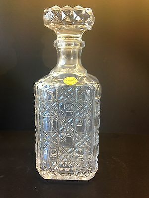 Cut Crystal Square Decanter