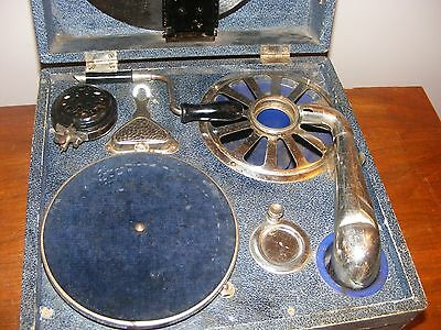 Antique Coronet Portable Record Player, Germany