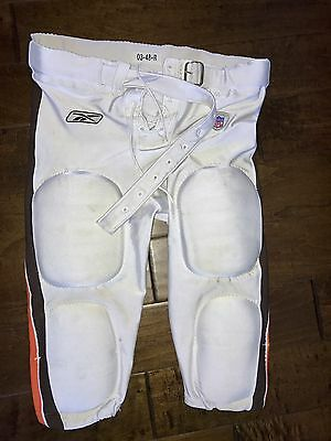 2003 - Cleveland Browns Game Used White Football Pants  With Pads - Reebok