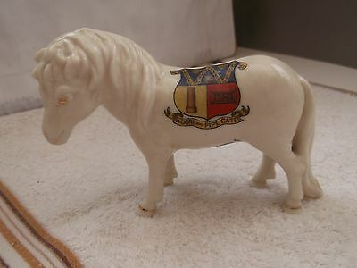 Vintage Model Of A Shetland Pony  Crested Woore And Pipe Gate By Arcadian China