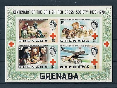 [19498] Grenada 1970 British Red Cross society Imperforated Souvenir Sheet MNH