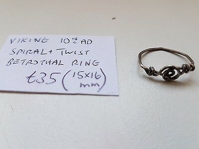 Viking silver ring