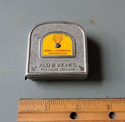 Shell Chemical Corp. 6' Metal Tape Measure Shell Oil Company Pat. No. 2,636,694