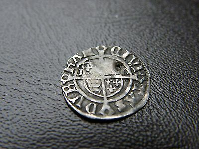 Henry VIII Hammered Silver Sovereign Penny Coin Durham shield Bishop Tunstall