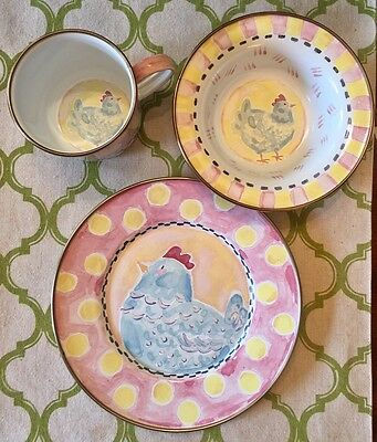 Mackenzie-childs Chicken Plate Bowls & Plates Feeding