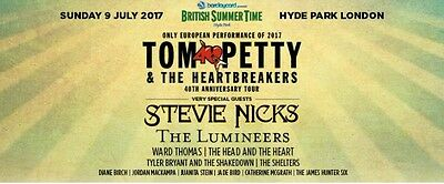 British Summer Time Festival 9th July with 2 night Hotel Package- Tom Petty