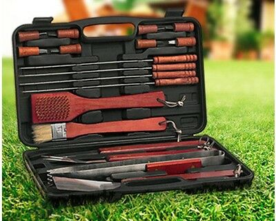 BBQ Grill Set Stainless Steel Utensils Barbecue Tools 18 Piece Outdoor Cooking