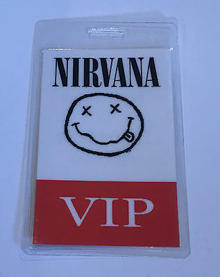 Nirvana VIP Laminated Tour Pass No Backstage or Stage Access Vintage