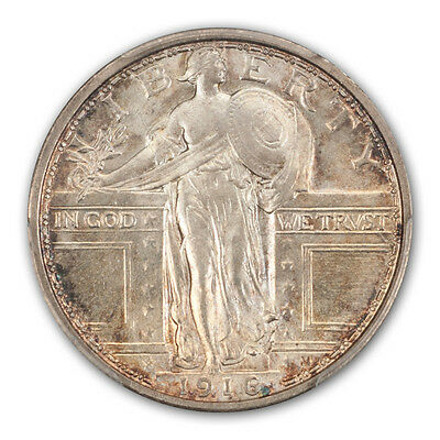 1916 25C Standing Liberty Quarter PCGS MS66FH