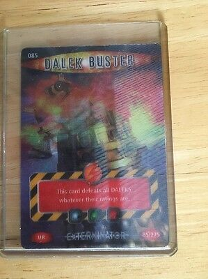 """Doctor Who Battles In Time Exterminator - Ultra Rare """"Dalek Buster"""" Card #085"""