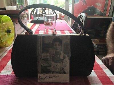 Eastenders Dot Cotton Vintage Handbag - With Early BBC Signed Promo Card