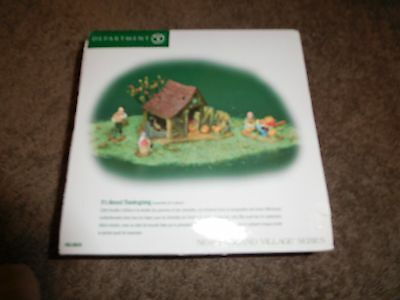 Department 56 It's Almost Thanksgiving New England Village Series New In Box