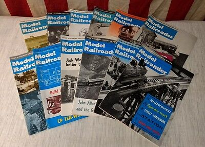 Vintage MODEL RAILROADER Magazine 1963 Complete Year Back Issues - Train