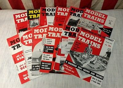 1956 MODEL TRAINS ~ Model Railroading Made Easy Magazine Complete SET 12 Issues!