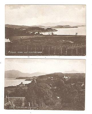 TWO CARD OF Connel Ferry unused Vintage Postcards ARGYLL Scotland  SCOTLAND