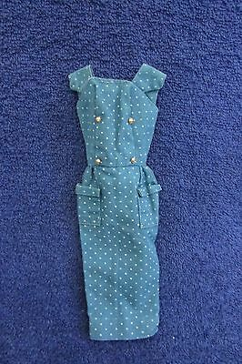 Vintage Mattel Barbie Doll Blue Polka Dot Sheath Dress