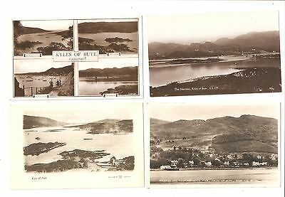 Four Postcards of The Kyles of Bute all unused