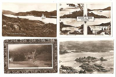 Four Postcards of The Kyles of Bute Scotland