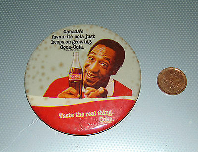 Coca-Cola Coke Bill Cosby Pinback  Button Canada Favorite Cola
