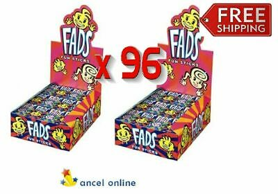 Bulk Lollies 96 x Fad Fun Sticks 15g Fads Candy Stick Lolly Buffet Sweets Favors