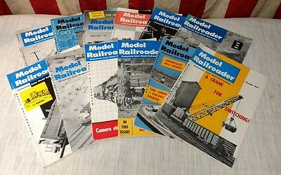 Vintage MODEL RAILROADER Magazine 1957 Complete Year Back Issues - Train