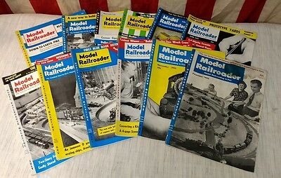 Vintage MODEL RAILROADER Magazine 1955 Complete Year Back Issues - Train