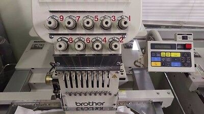 brother commercial embroidery machine 9 needle bas-416 a-01