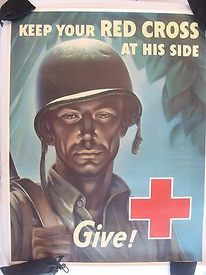 """Red Cross  WWII Poster   Vintage Matte Paper Posters  14""""x20"""" NOT A REPRODUCTION"""