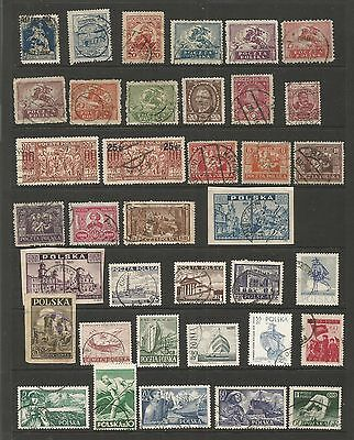 Poland Polonia 1918- 1956 Good Lot Of Polish Stamps