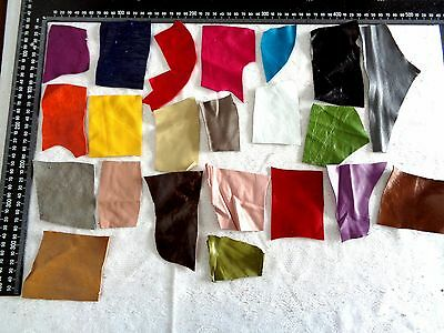 BRAND NEW GENUINE LEATHER SCRAPS, PIECES, OFF CUTS for CRAFTS & HOBBIES - Lot 65
