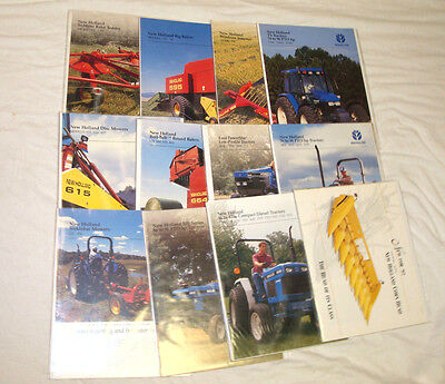 New Holland - Tractor/Farm Equipment Brochures & Booklets - Lot of 12