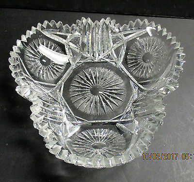RARE Pitkin Brooks  or Enterprise  SUNBURST Trifoil Bowl