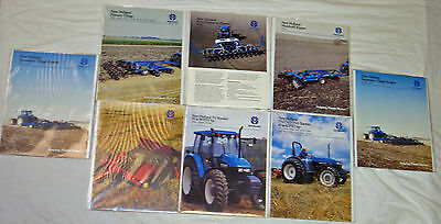 New Holland - Tractor/Farm Equipment Brochures / Booklets - Lot of 9